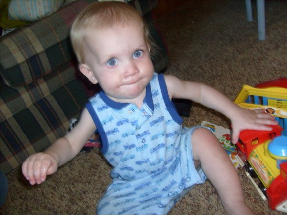 "George, summer 2010, before we had a diagnosis more than ""failure to thrive."" This picture sometimes makes me cringe...wishing I could go back and cheer myself on...pushing harder. But you know what they say about hindsight."