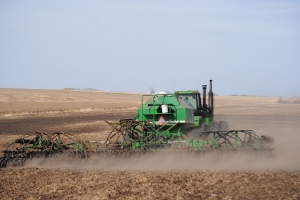 seeding wheat, residue