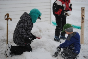 Although they had homework to get done, this Mama had to give a reprieve. It's not every day that we have perfect conditions for playing in the snow!