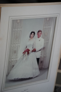 The beautiful bride and groom...my Mom and Dad!