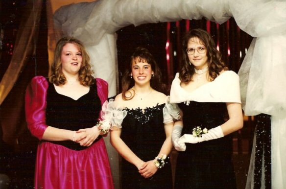 """Hypothetically,"" the gal on the right (at her junior prom) may have had some lofty goals. The goals are still lofty, it's just the focus is better!"