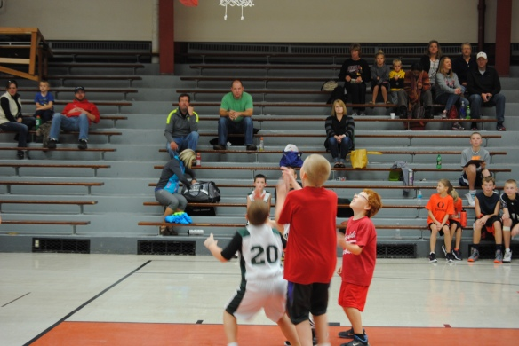 The tall one in the red? Yeah, that's my 9-year-old.