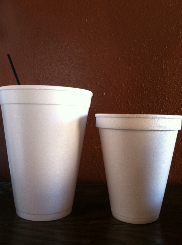 I started with the cup on the right, but I've now limited my number of cups...and switched to the cup at the left. That should help.