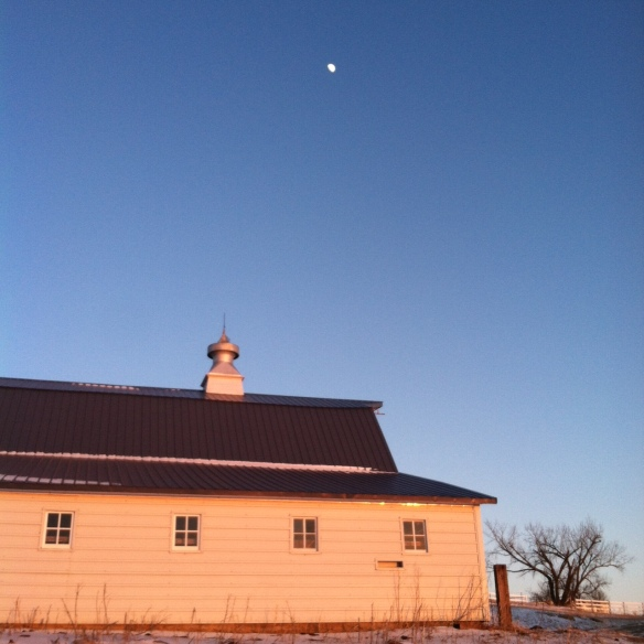 This place is ready for some company. (And the moon was just a cool bonus.)